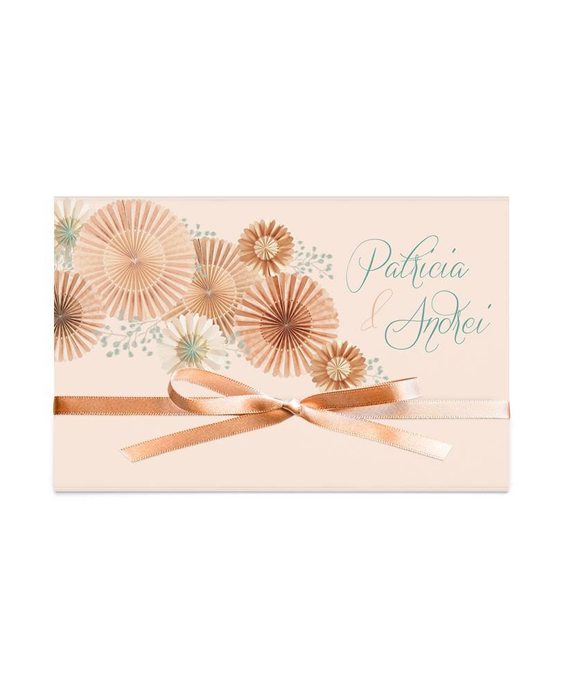 Invitatie de nunta Elegant Rosettes