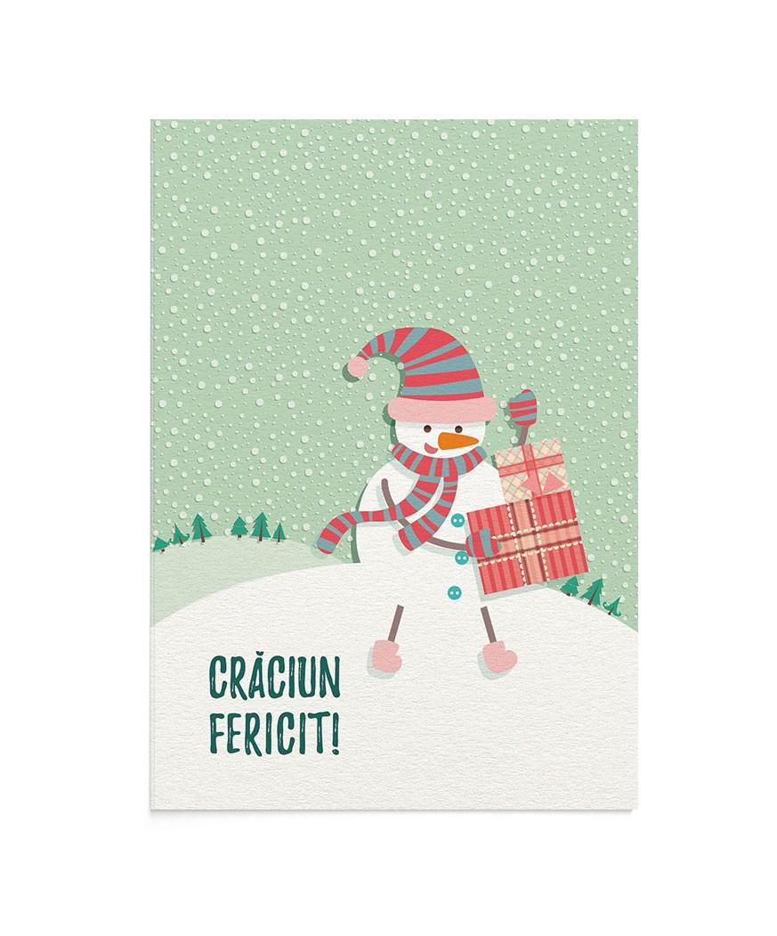 Felicitare Happy Snowman