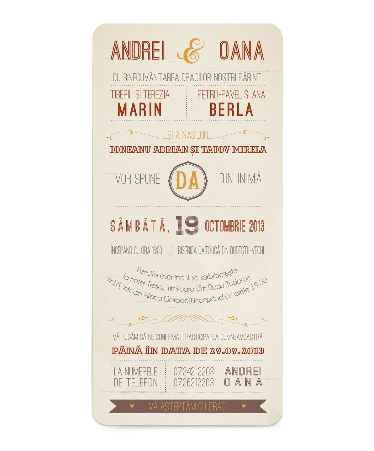 Invitatie Typography