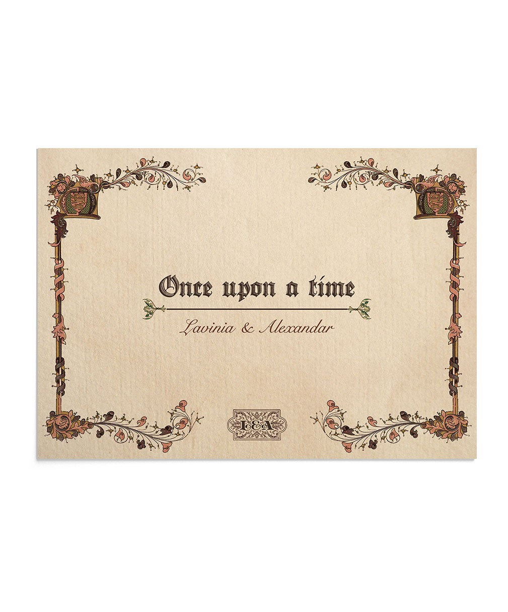 Invitatie de nunta Once Upon a Time