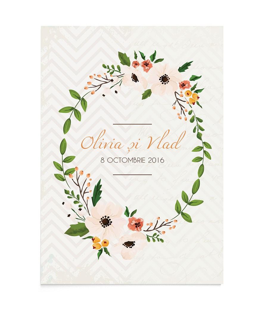 Invitatie de nunta Lively Wreath