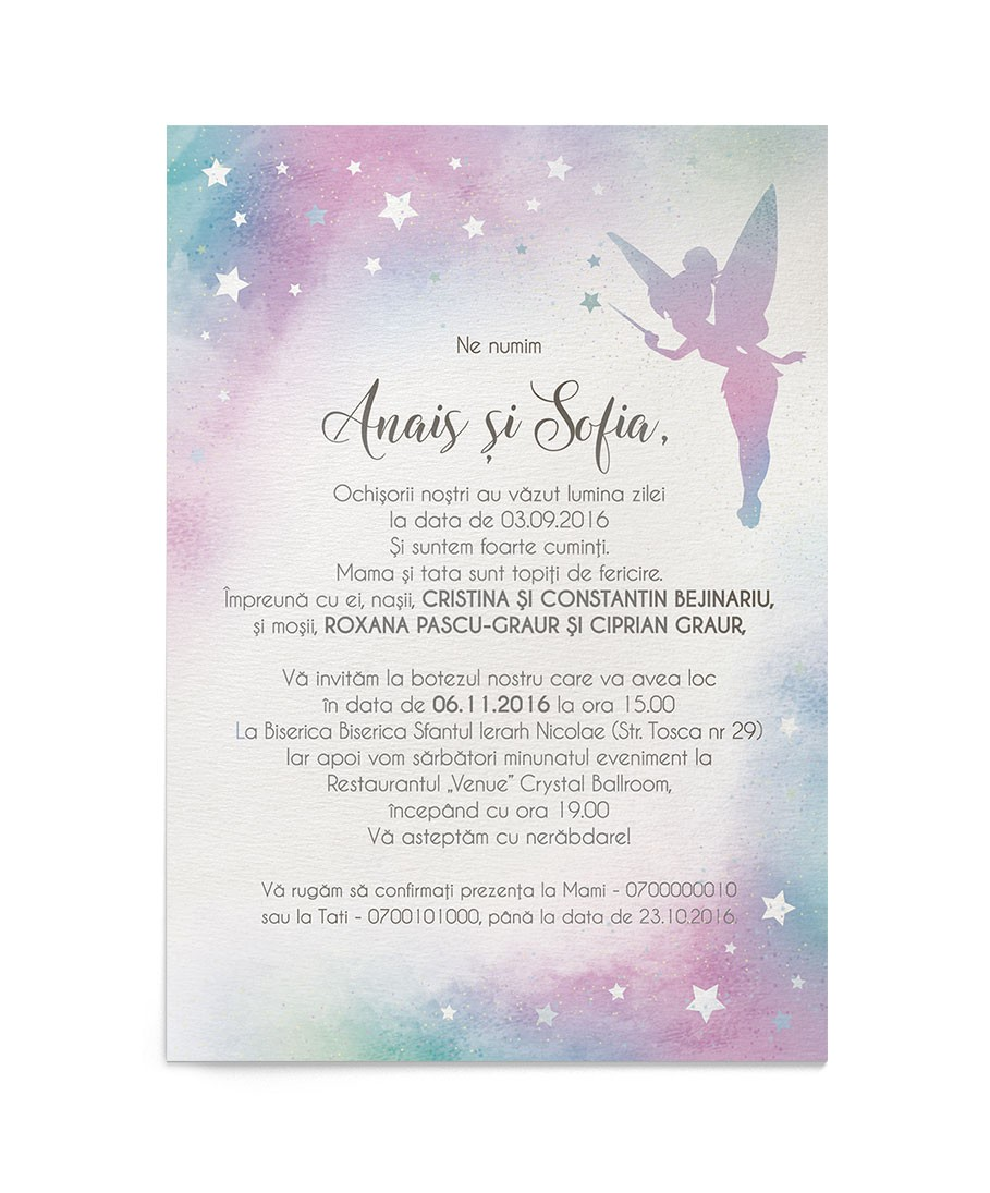 Invitatie Pixie Dust