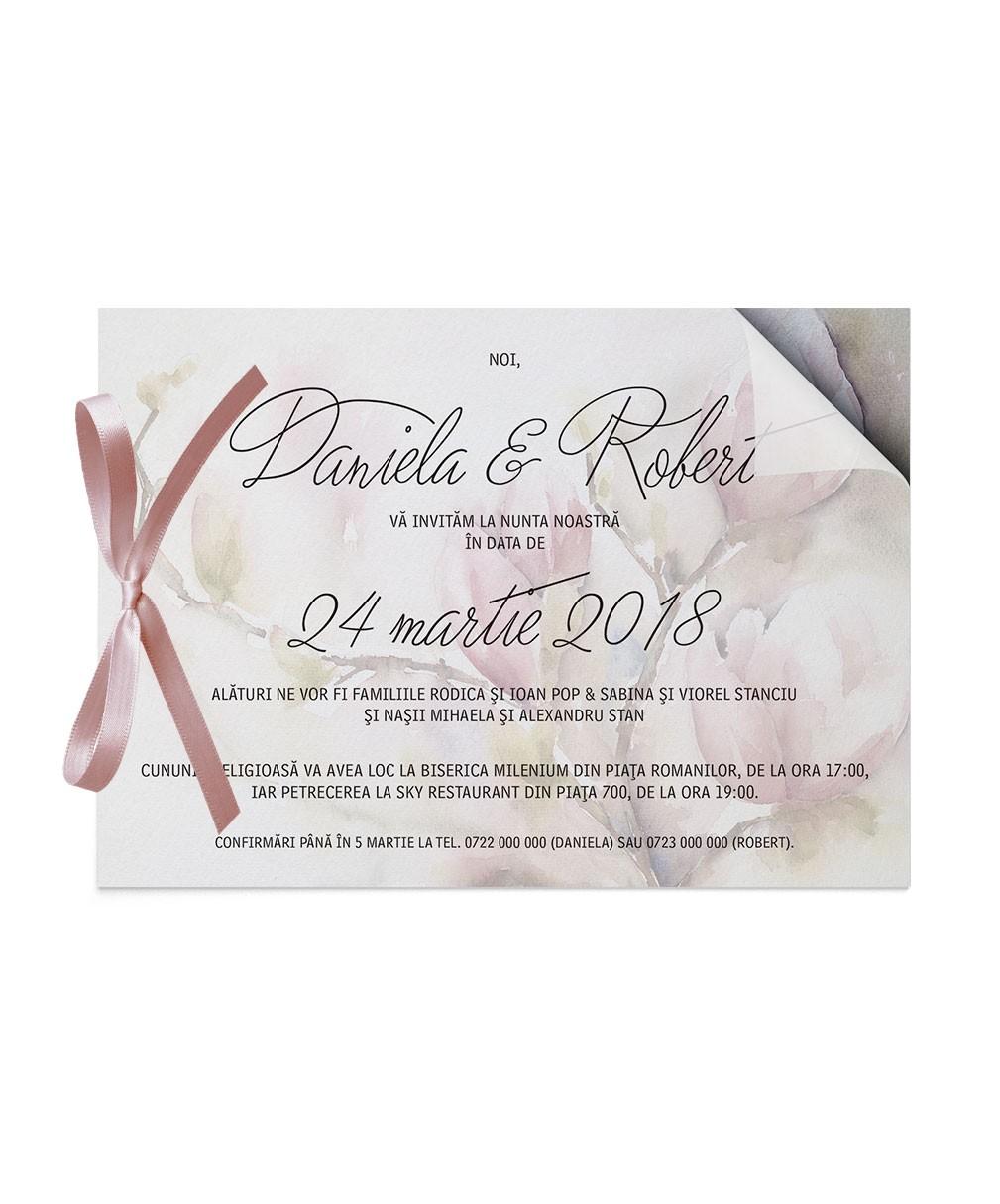 Invitatie de nunta Sweet Magnolia