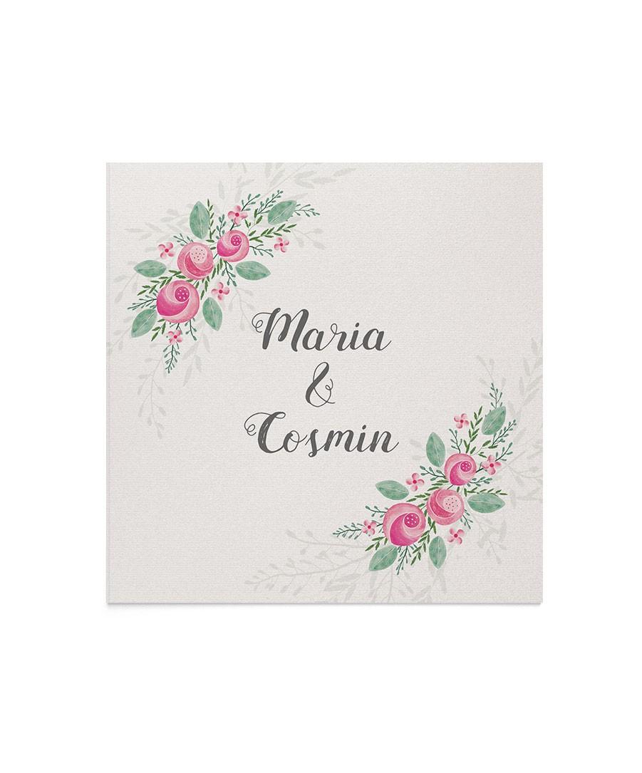 Invitatie de nunta Painted Roses