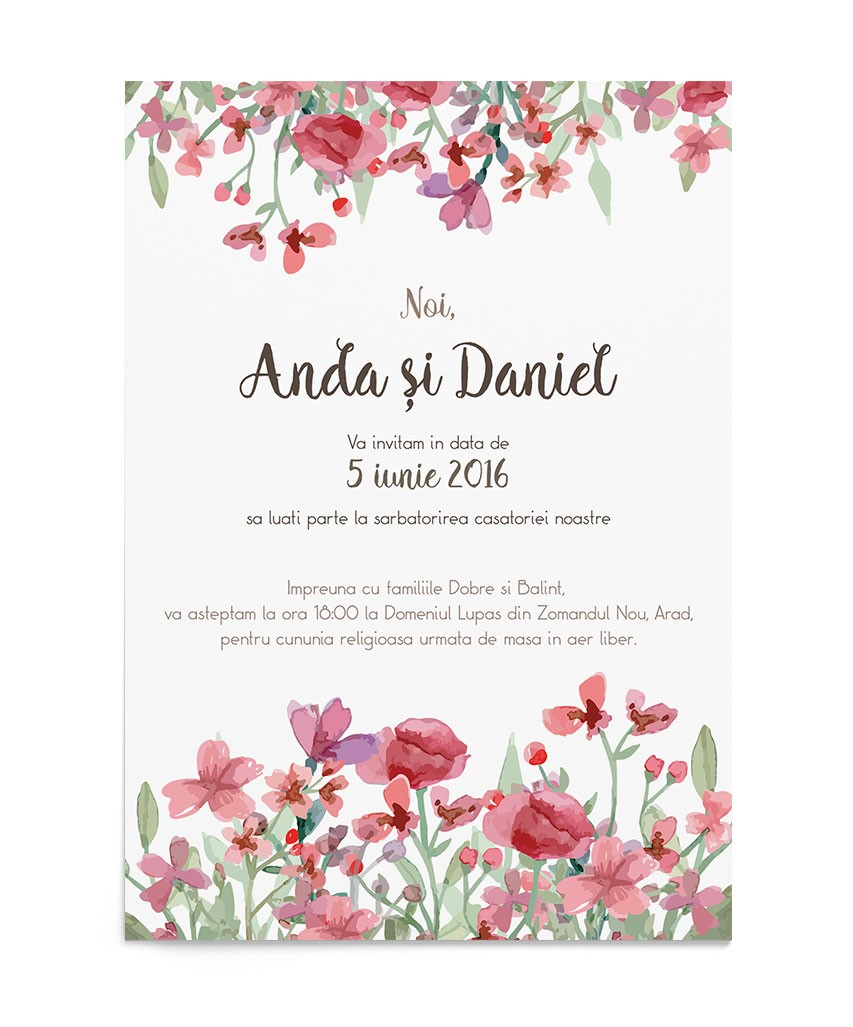 Invitatie de nunta Colorful Dream