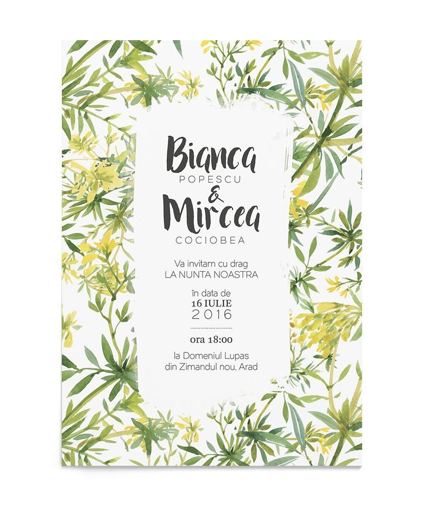 Invitatie de nunta Tropical Touch