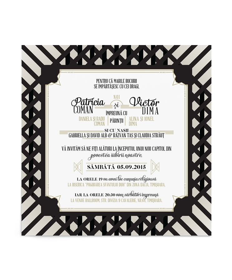 Invitatie Deco Pattern