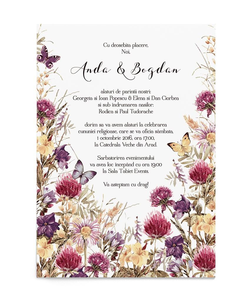 Invitatie de nunta Flower Meadow