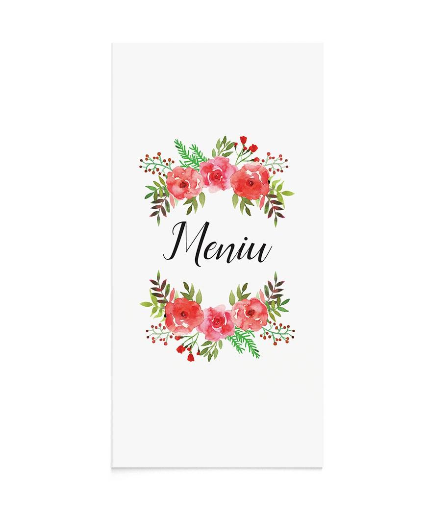 Meniu de nunta Flowery Crest