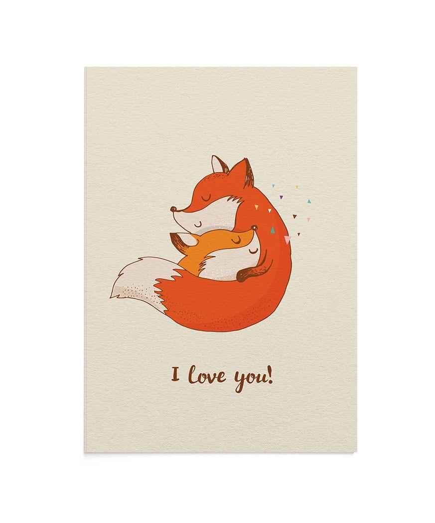 Felicitare Mother Fox