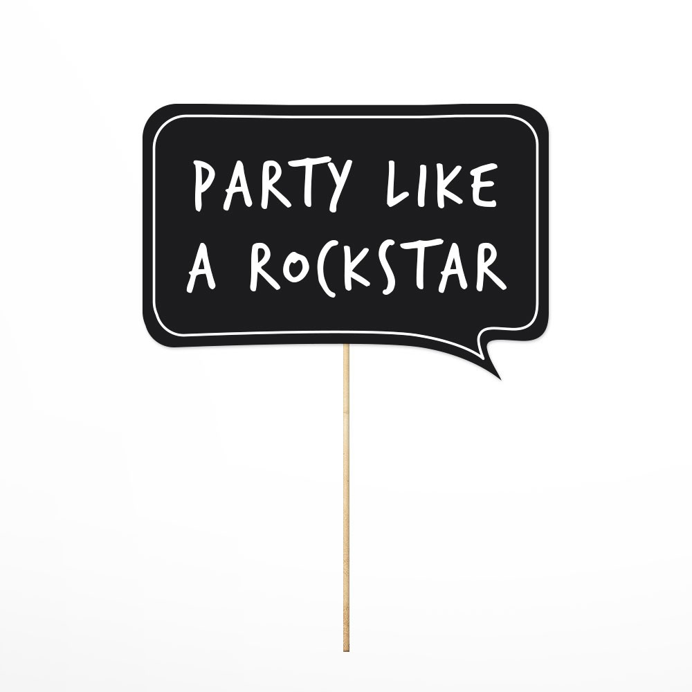 Photo Props Party Like a Rockstar