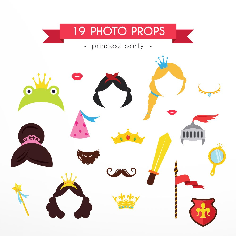 Photo Props Princess Party