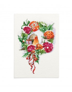 Felicitare Birdy Wreath