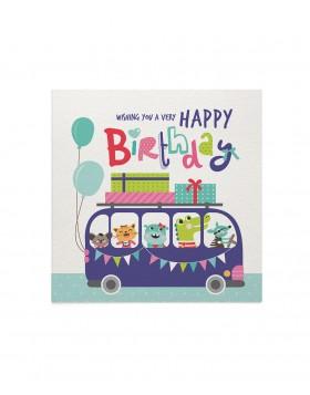 Felicitare Birthday Bus