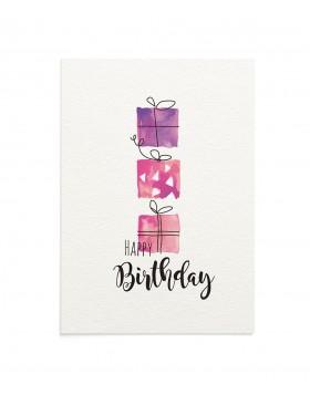 Felicitare Birthday Presents