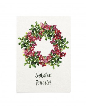Felicitare Cheerful Wreath