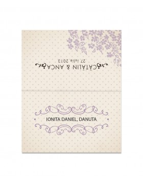 Card de nume Light Swirls