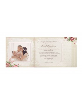 Invitatie de botez Butterfly Love