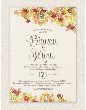 Invitatie digitala Autumn Leaves