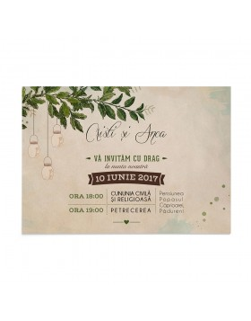 Invitatie Always Together Card