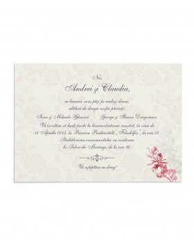 Invitatie Precious Bloom