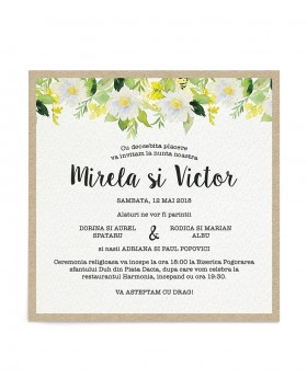 Invitatie digitala Daisy Canopy