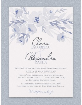Invitatie digitala de nunta Gracious Grays