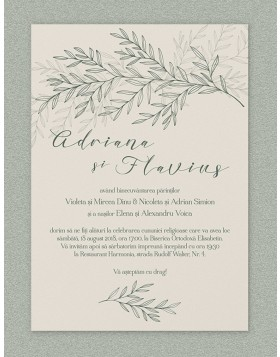 Invitatie digitala Lavish Foliage