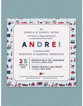 Invitatie digitala Little Toys