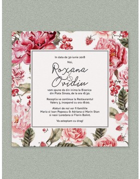 Invitatie digitala Romantic Rose