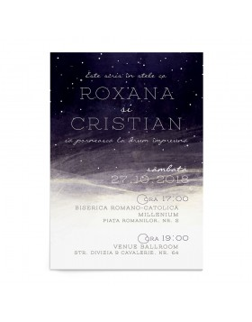 Invitatie digitala de nunta Starry Night