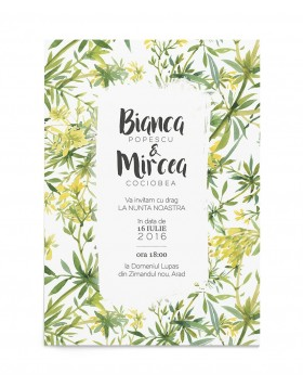 Invitatie digitala Tropical Touch