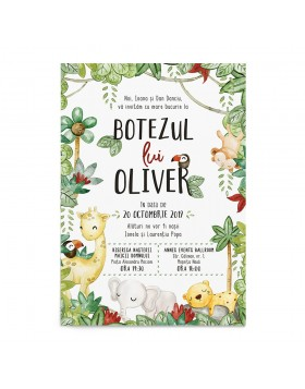 Invitatie digitala Wild Animals