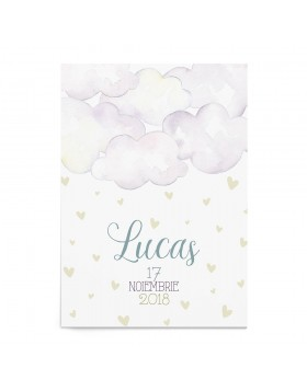 Invitatie botez Fluffy Clouds