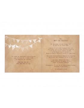 Invitatie de nunta Rustic Bunting