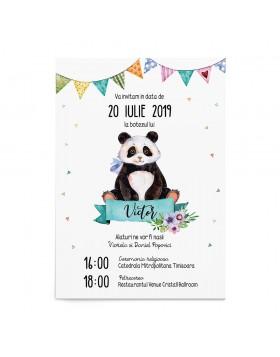 Invitatie botez Panda Darling