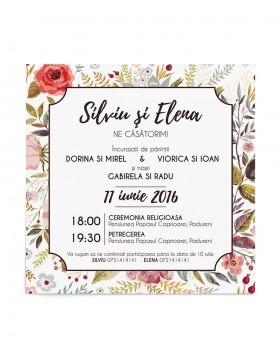 Invitatie de nunta Flower Blast