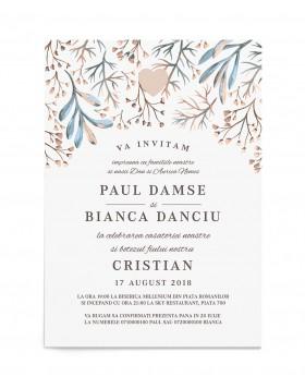 Invitatie Nunta Si Botez 2 In 1 Invitatie Pentru Nunta Si Botez
