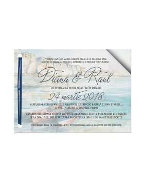 Invitatie de nunta Boats at Sea
