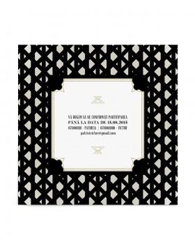 Invitatie de nunta Deco Pattern