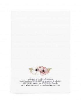 Invitatie de nunta Framed Anemones