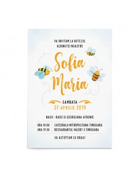 Invitatie botez Sweet Bee
