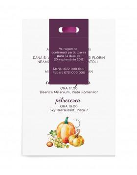 Invitatie de nunta Harvest Season
