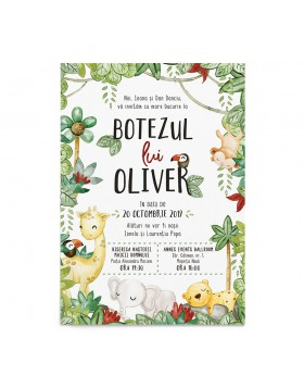 Invitatie Wild Animals