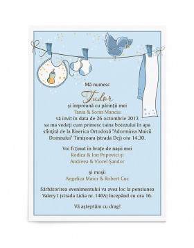 Invitatie de botez Baby on Board