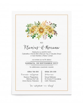 Invitatie de nunta Helianthus