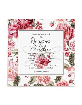 Invitatie de nunta Romantic Rose