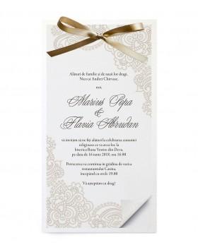 Invitatie de nunta Lacy Shimmer