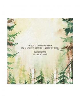 Invitatie nunta Forest Call