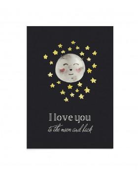 Felicitare Moon Love